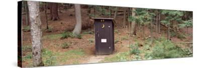 Outhouse in a Forest, Adirondack Mountains, New York State, USA--Stretched Canvas Print