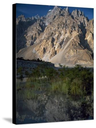 Cathedral Spire Mountains Passu in Northern Pakistan-Antonia Tozer-Stretched Canvas Print