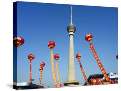Beijing, Cctv Tower, China Central Television Is the Country's National Public Broadcaster, China-Christian Kober-Stretched Canvas Print