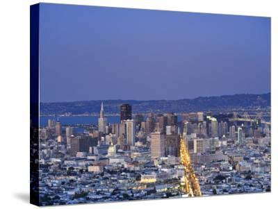 California, San Francisco, Skyline Viewed from Twin Peaks, USA-Michele Falzone-Stretched Canvas Print
