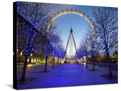 London Eye Is Giant Ferris Wheel, Banks of Thames Constructed for London's Millennium Celebrations-Julian Love-Stretched Canvas Print