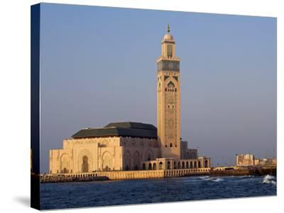 Hassan Ii Mosque in Casablanca, the Third Largest in World after Those at Mecca and Medina, Morocco-Julian Love-Stretched Canvas Print