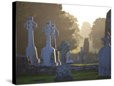 Clonmacnoise Monastery, Co Offlay, the Midlands, Ireland-Doug Pearson-Stretched Canvas Print