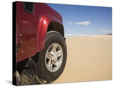 Queensland, Fraser Island, Four Wheel Driving on Sand Highway of Seventy-Five Mile Beach, Australia-Andrew Watson-Stretched Canvas Print