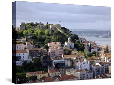Lisbon, the Castelo Sao Jorge in Lisbon with the Rio Tejo in the Background, Portugal-Camilla Watson-Stretched Canvas Print