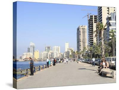 Corniche, Beirut, Lebanon, Middle East-Wendy Connett-Stretched Canvas Print