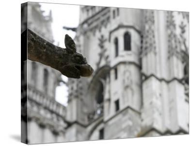 St. Gatien Cathedral Gargoyle, Tours, Indre-Et-Loire, France, Europe-Godong-Stretched Canvas Print