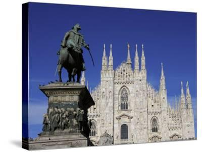 Duomo, Milan, Lombardy, Italy, Europe-Vincenzo Lombardo-Stretched Canvas Print
