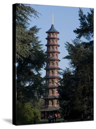 Pagoda, Royal Botanic Gardens, Kew, Surrey-Ethel Davies-Stretched Canvas Print