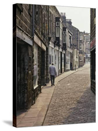 Cobbled Side Street in Otley, Yorkshire, England, United Kingdom, Europe-Nigel Blythe-Stretched Canvas Print