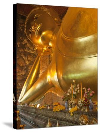 Temple of the Reclining Buddha, Bangkok, Thailand-Nico Tondini-Stretched Canvas Print