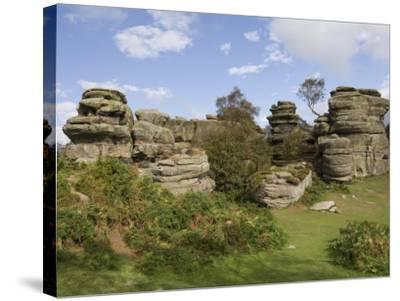 Brimham Rocks, Brimham Moor, Near Ripon, North Yorkshire, England, United Kingdom, Europe-James Emmerson-Stretched Canvas Print