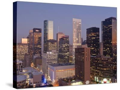Skyline, Houston, Texas, United States of America, North America-Michael DeFreitas-Stretched Canvas Print