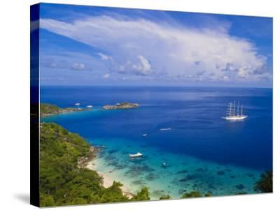 Clipper Ship Anchored Off Ko Miang Island, Similan Islands in the Andaman Sea, Thailand-Nico Tondini-Stretched Canvas Print