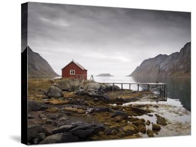 Rorbu and Jetty on Fjord, Lofoten Islands, Norway, Scandinavia, Europe-Purcell-Holmes-Stretched Canvas Print