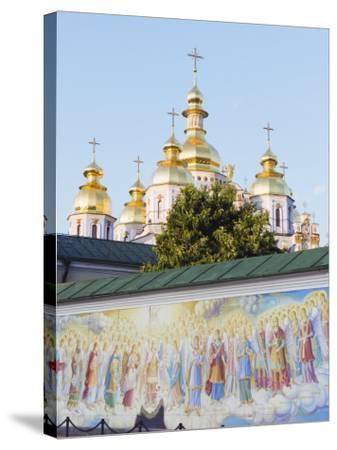 Fresco on Wall of St. Michaels Gold Domed Monastery, 2001 Copy of 1108 Original, Kiev, Ukraine-Christian Kober-Stretched Canvas Print