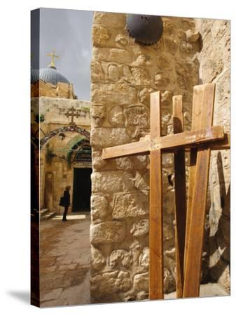 Stations of the Cross on Via Dolorosa, Old City, Jerusalem, Israel, Middle East-Michael DeFreitas-Stretched Canvas Print