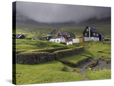 Viking Longhouse Dating from the 10th Century, Archaeological Site of Toftanes-Patrick Dieudonne-Stretched Canvas Print