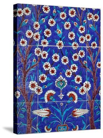 Iznik Tiles in Topkapi Palace, Istanbul, Turkey, Europe-Godong-Stretched Canvas Print