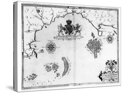 Map No.5 Showing the route of the Armada fleet, engraved by Augustine Ryther, 1588-Robert Adams-Stretched Canvas Print