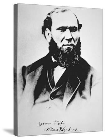 Portrait of Allan Pinkerton, founder of Pinkerton's National Detective Agency in 1850--Stretched Canvas Print