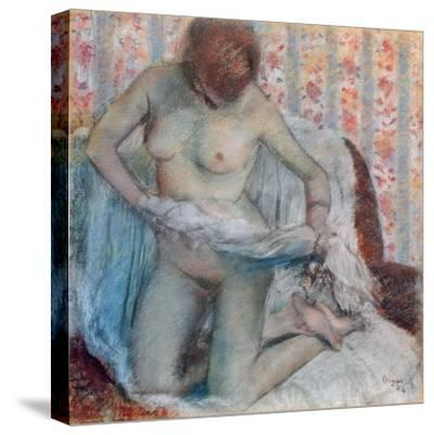 After the Bath, 1884-Edgar Degas-Stretched Canvas Print
