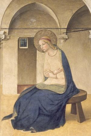 The Annunciation, C.1438-45-Fra Angelico-Stretched Canvas Print