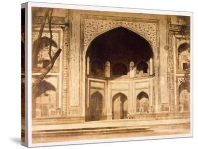 Outside the Taj Mahal, 1858-John Murray-Stretched Canvas Print