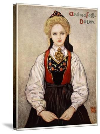 Country Girl from Dalen, 1905-Nico Jungman-Stretched Canvas Print
