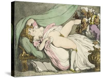 The Prostitute Observed, 1808-17-Thomas Rowlandson-Stretched Canvas Print