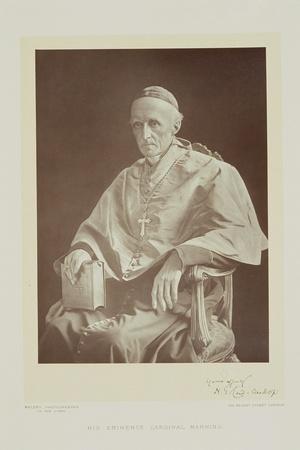 Portrait of Cardinal Henry Edward Manning-Walery Rzewuski-Stretched Canvas Print