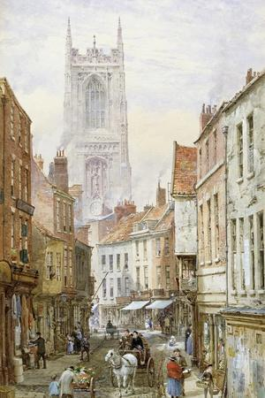 A View of Irongate, Derby-Louise J^ Rayner-Stretched Canvas Print