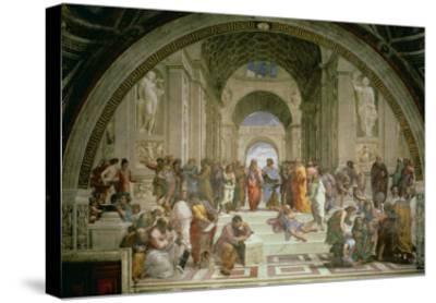 School of Athens, from the Stanza della Segnatura, 1510-11-Raphael-Stretched Canvas Print