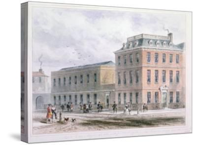 View of Soho Square and Carlisle House-Thomas Hosmer Shepherd-Stretched Canvas Print