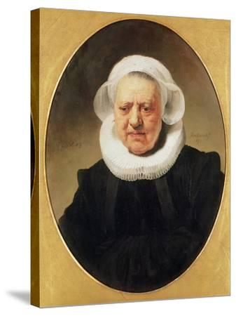 Portrait of Aechje Claesdar, 1634-Rembrandt van Rijn-Stretched Canvas Print