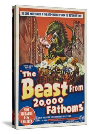 The Beast From 20,000 Fathoms, Australian Movie Poster, 1953--Stretched Canvas Print