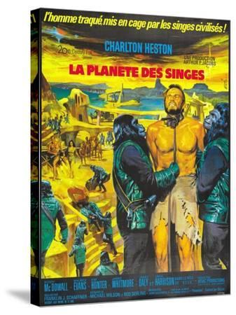 Planet of the Apes, French Movie Poster, 1968--Stretched Canvas Print