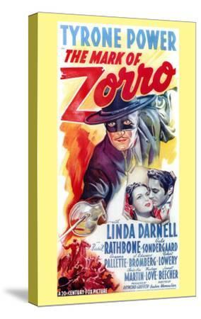 The Mark of Zorro, 1940--Stretched Canvas Print