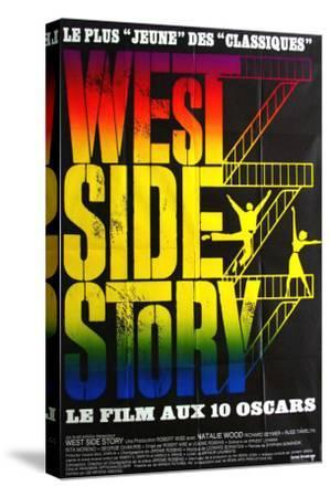 West Side Story, French Movie Poster, 1961--Stretched Canvas Print
