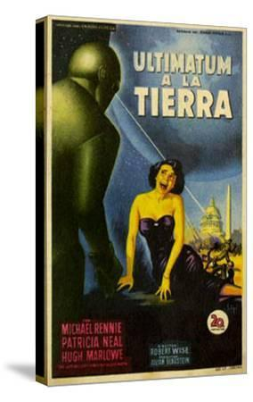 The Day The Earth Stood Still, Italian Movie Poster, 1951--Stretched Canvas Print