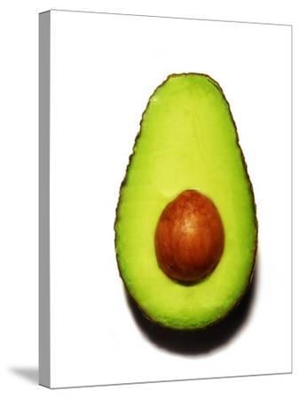Half an Avocado on a White Background-Tina Chang-Stretched Canvas Print
