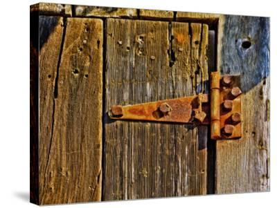Close-Up of Rusted Door Hinge-Diane Miller-Stretched Canvas Print