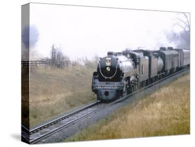 "Ex-Canadian Pacific Steam Locomotive No.2860, a 4-6-4 ""Royal Hudson""-Kent Kobersteen-Stretched Canvas Print"