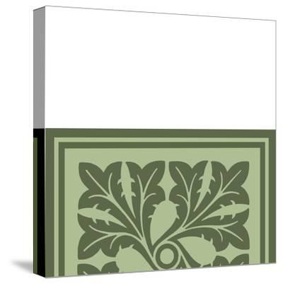 Tonal Woodblock in Green III-Vision Studio-Stretched Canvas Print