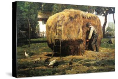 Barnyard-Childe Hassam-Stretched Canvas Print