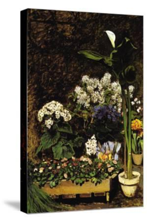 Mixed Spring Flowers-Pierre-Auguste Renoir-Stretched Canvas Print
