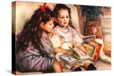 Portrait of Jean and Genevieve Caillebotte-Pierre-Auguste Renoir-Stretched Canvas Print