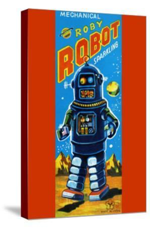 Roby Robot--Stretched Canvas Print