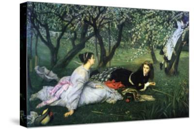 Springtime-James Tissot-Stretched Canvas Print