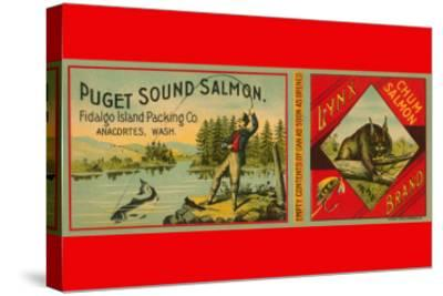 Puget Sound Salmon Can Label--Stretched Canvas Print